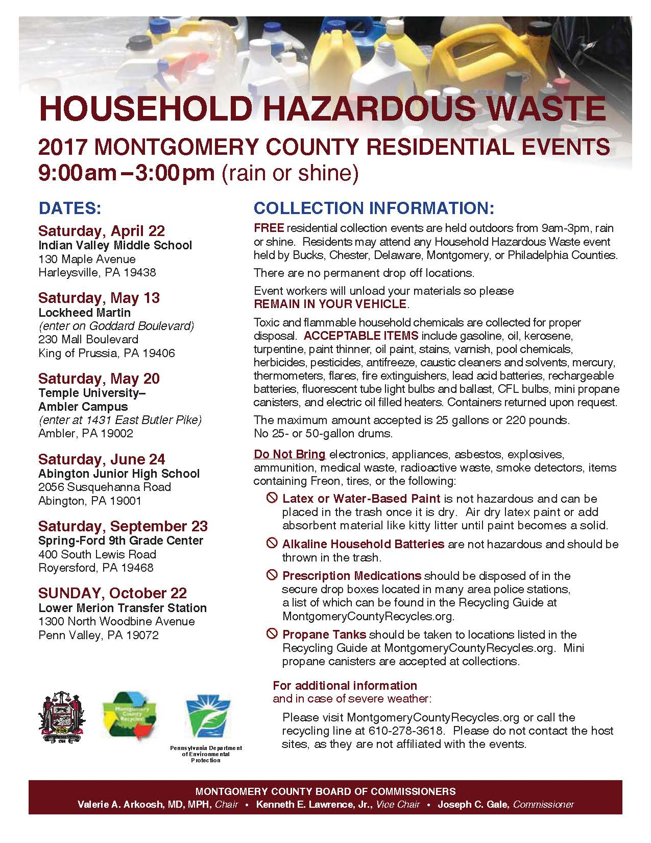Hazardous Waste Recycling Event