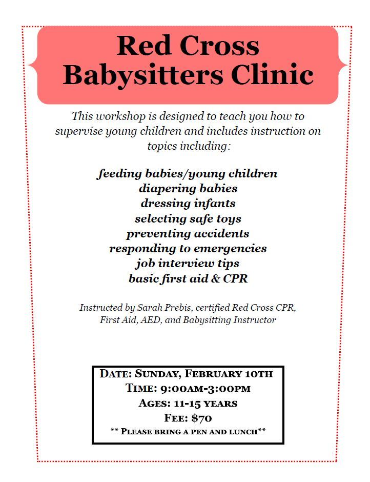babysitters clinic 2018 Winter