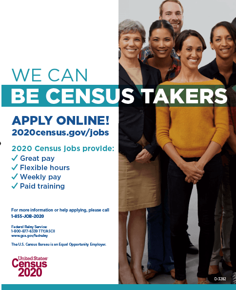 We Can Be Census Takers Poster