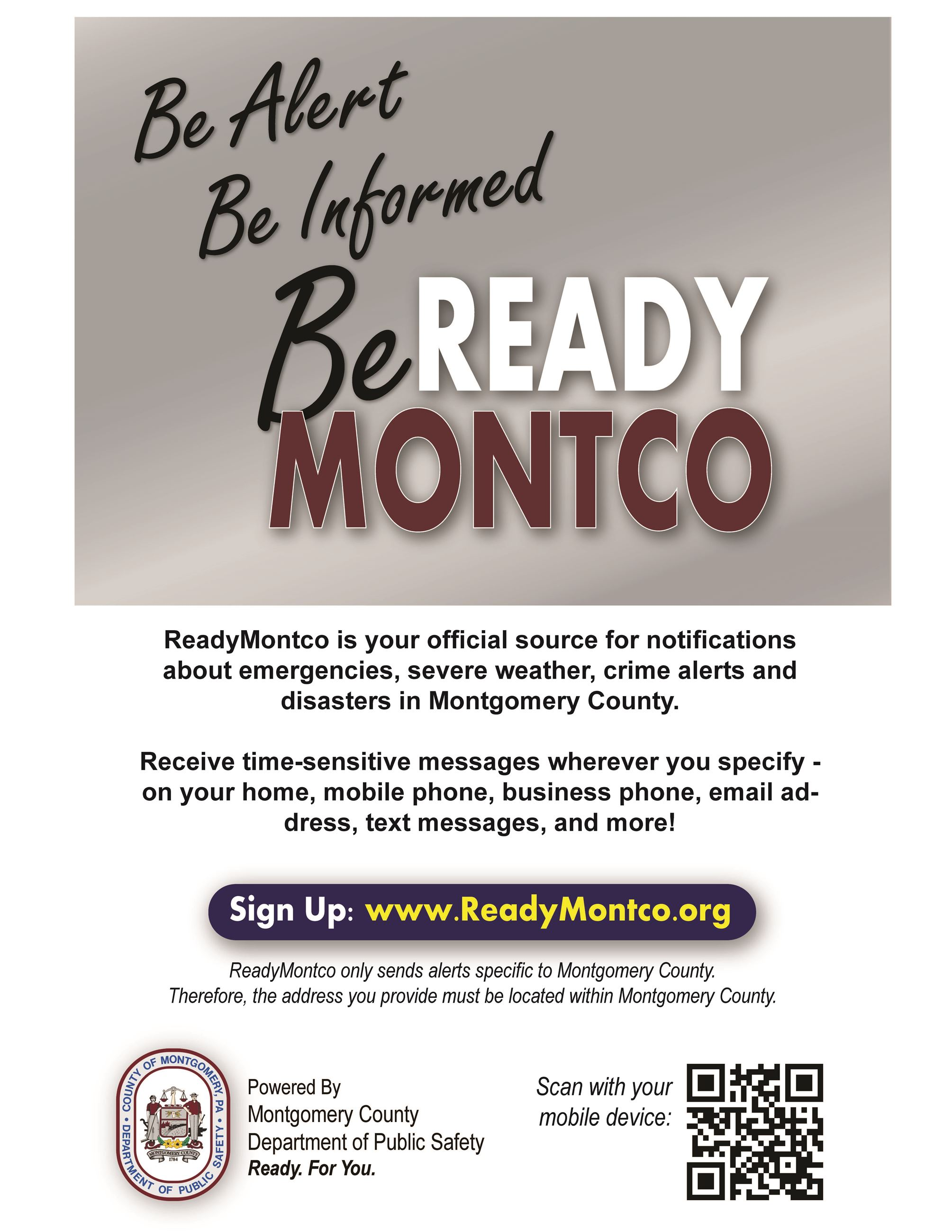 Ready MontCo Flyer - Be Sure to Sign Up!