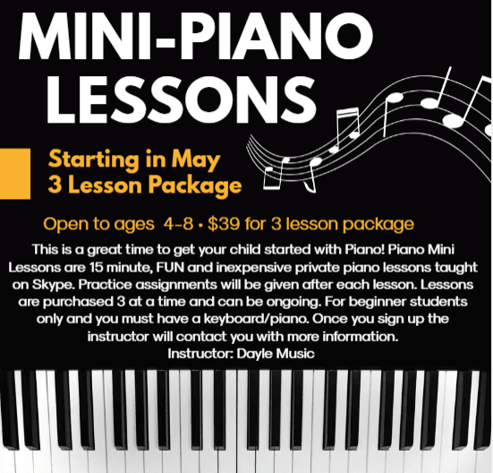 piano lesson flyer