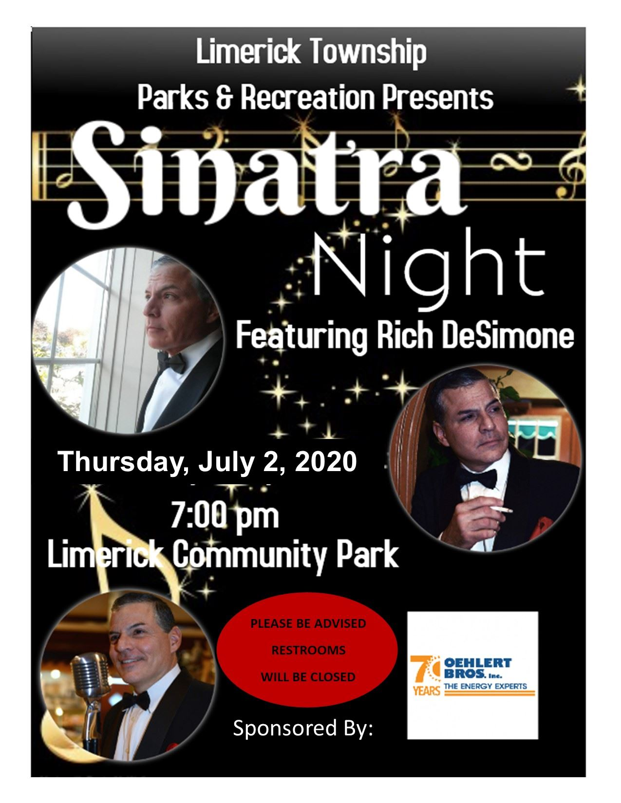 July 2nd Frank Sinatra Rich DeSimone FLyer